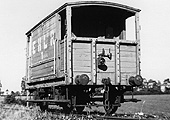 EHLR Brake Van No 1 is seen in good repair whilst standing on the EHLR's exchange sidings with the SMJ
