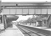 An ex-GWR Diesel Railcar enters the station on a down local service to Stratford upon Avon in 1959