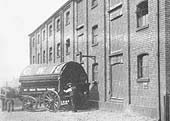 GWR two horse covered tilt van No 417 outside the old �Inwards shed and Warehouse� in Hockley Goods Yard in 1921
