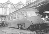 Ex-GWR Diesel Railcar No 7 stands at Platform 3 with a special working to the Forest of Dean on 23rd September 1950