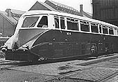 GWR Railcar No 4 is seen standing on one of the direct access roads in to Tyseley Repair workshops as it has maintenance undertaken