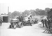 Fordson tractor No 1194 towing large agricultural machinery to the Warwick Royal Show on 4th July 1931
