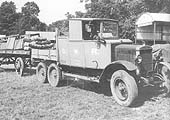 Six wheel Morris Commercial ex WD lorry chassis originally allocated No 1115 when purchased by the GWR