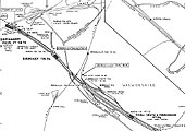 Map of the junction between the Midland and the Great Western at Bordesley and Gloucester Junction