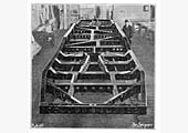 View of one the Coventry Railcar's chassis frame being erected at one of Armstrong Siddeley's workshops