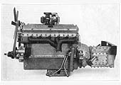 A 12 cylinder Armstrong Siddeley engine and gear-box of the type fitted to the Coventry Pneumatic Rail Car