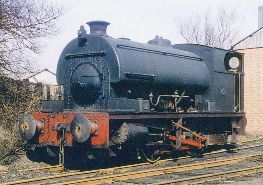 Peckett Class OY1 Special 0-4-0ST Works No 2085 is seen standing cold outside of Courtauld's shed on the Foleshill Railway