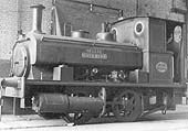 Andrew Barclay 0-4-0ST 'Nellie' Works No 2053 built in 1938 is seen standing within the confines of Courtaulds factory on 6th March 1955