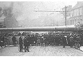 Another view of one of the 15 inch gun barrels being moved on the Foleshill Railway crossing Stoney Stanton Rd