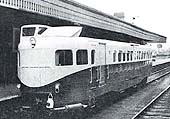 Coventry Pneumatic Railcar No 2 stands at platform 2 waiting to depart on a Leamington to Nuneaton service in 1936