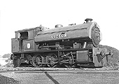 Bagnall 0-6-0ST Works No 2996 'Victor' stands out of steam at Austin Motors Longbridge factory in 1963