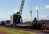 A steam rail crane used for PW work in the Depot, seen in 1981