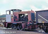 Bird's working loco in 1981 � former BR D2857 (02 class) built by the Yorkshire Engine Co. (2816/60) � remarkably this loco survived until 1992