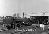 Both steam locomotives outside the loco shed